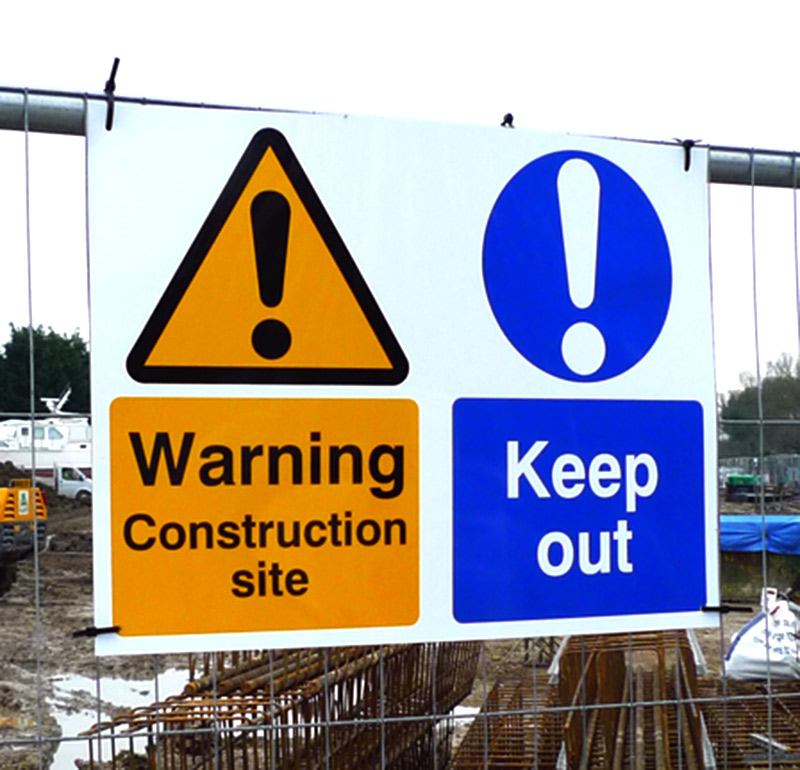 Correx Site Safety Signage